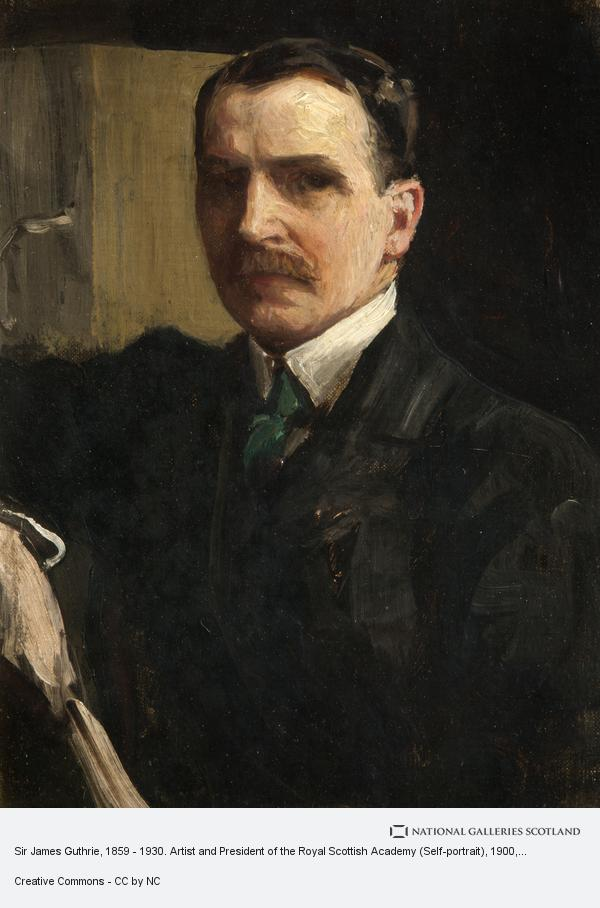 Sir James Guthrie, Sir James Guthrie, 1859 - 1930. Artist and President of the Royal Scottish Academy (Self-portrait) (About 1900 - 1910)