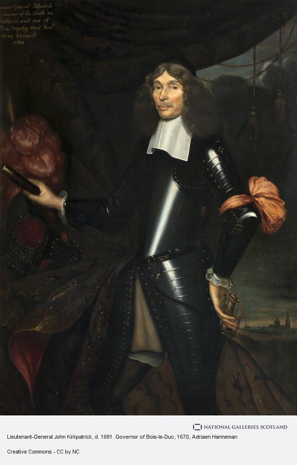Adriaen Hanneman, Lieutenant-General John Kirkpatrick, d. 1681. Governor of Bois-le-Duc