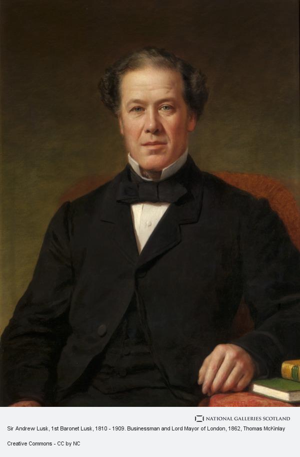 Thomas McKinlay, Sir Andrew Lusk, 1st Baronet Lusk, 1810 - 1909. Businessman and Lord Mayor of London