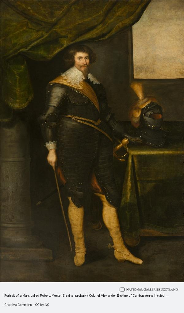 George Jamesone, Portrait of a Man, called Robert, Mester Erskine, probably Colonel Alexander Erskine of Cambuskenneth (died 1640)