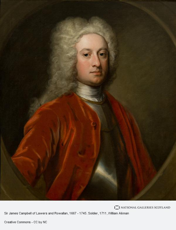 William Aikman, Sir James Campbell of Lawers and Rowallan, 1667 - 1745. Soldier