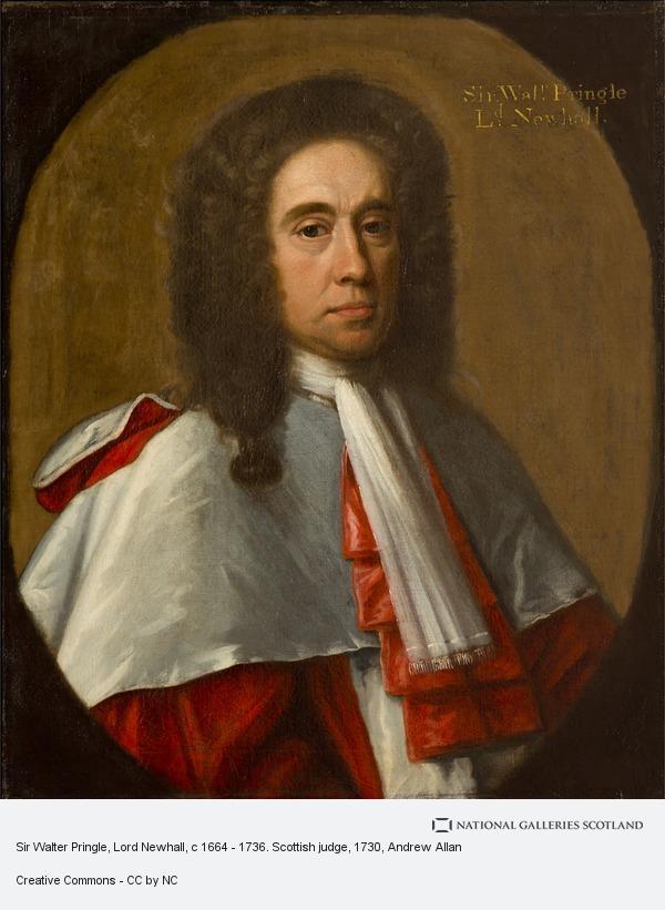 Andrew Allan, Sir Walter Pringle, Lord Newhall, c 1664 - 1736. Scottish judge