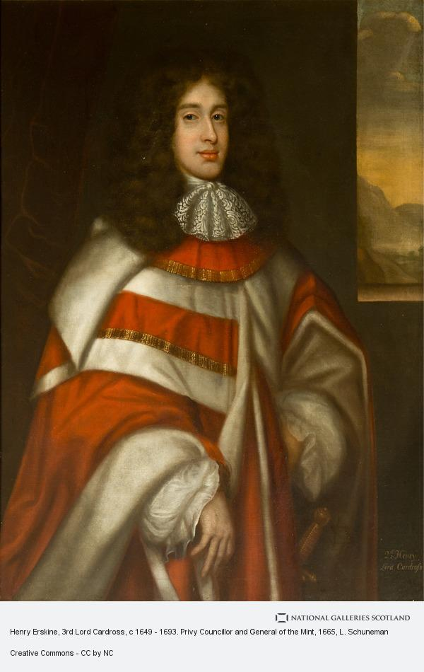 L. Schuneman, Henry Erskine, 3rd Lord Cardross, c 1649 - 1693. Privy Councillor and General of the Mint
