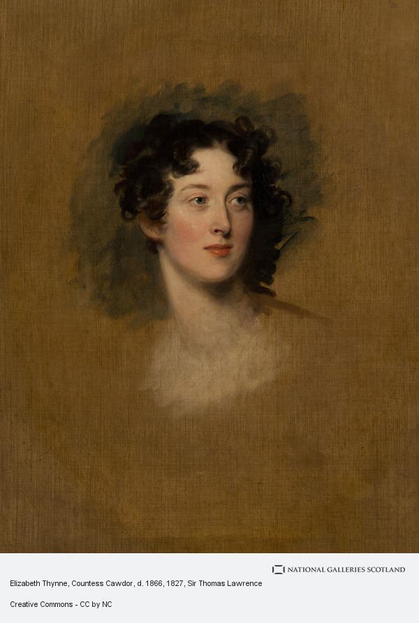 Sir Thomas Lawrence, Elizabeth Thynne, Countess Cawdor, d. 1866