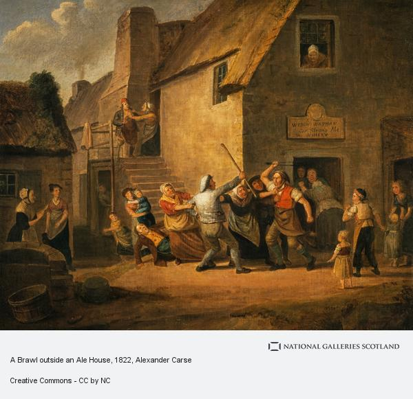 Alexander Carse, A Brawl outside an Ale House