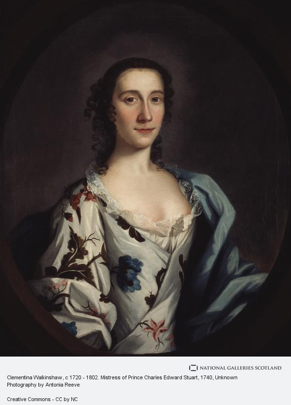 Unknown, Clementina Walkinshaw, c 1720 - 1802. Mistress of Prince Charles Edward Stuart