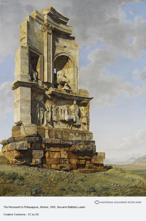 Giovanni Battista Lusieri, The Monument to Philopappos, Athens (About 1805 - 1807)