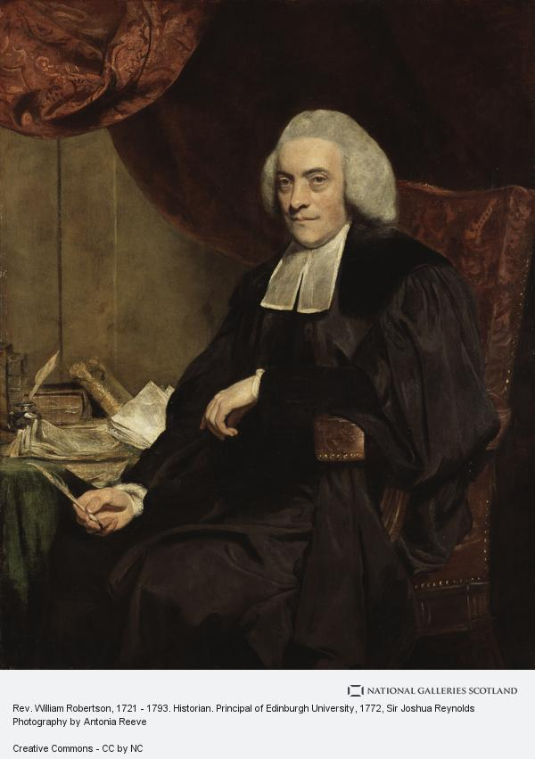 Sir Joshua Reynolds, Rev. William Robertson, 1721 - 1793. Historian. Principal of Edinburgh University