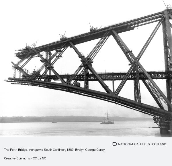 Evelyn George Carey, The Forth Bridge. Inchgarvie South Cantilver (September 21st 1889 (print by Michael and Barbara Gray 2007))