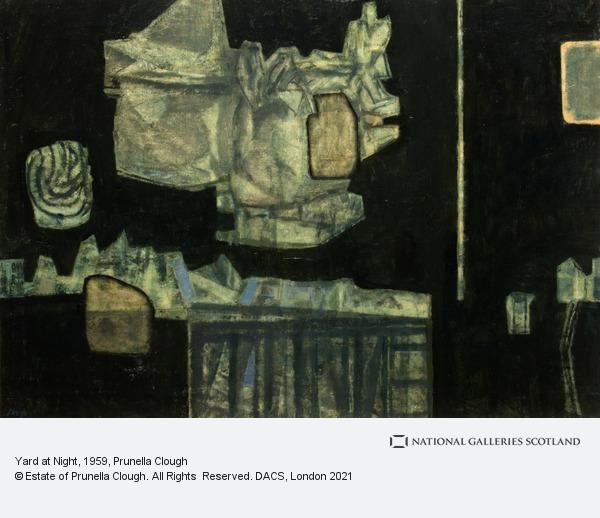 Prunella Clough, Yard at Night