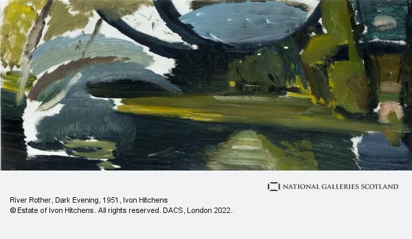 Ivon Hitchens, River Rother, Dark Evening