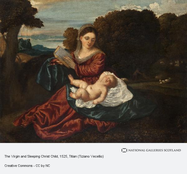 Titian (Tiziano Vecellio), The Virgin and Sleeping Christ Child