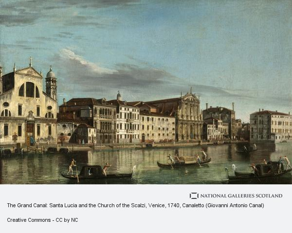 Canaletto (Giovanni Antonio Canal), The Grand Canal: Santa Lucia and the Church of the Scalzi, Venice