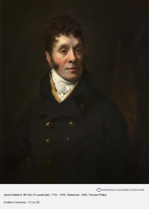 Thomas Phillips, James Maitland, 8th Earl of Lauderdale, 1759 - 1839. Statesman