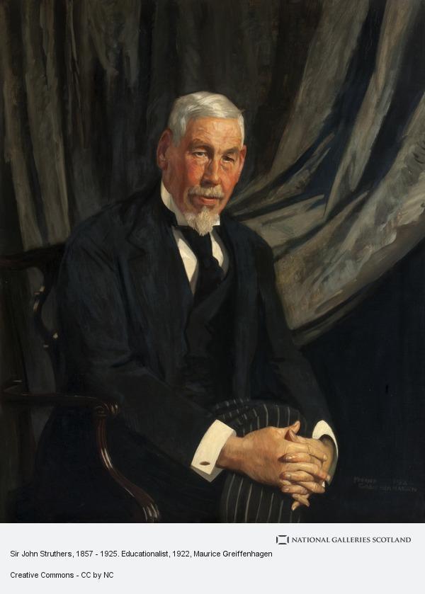 Maurice Greiffenhagen, Sir John Struthers, 1857 - 1925. Educationalist