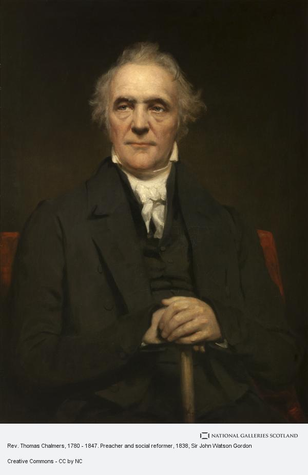 Sir John Watson Gordon, Rev. Thomas Chalmers, 1780 - 1847. Preacher and social reformer