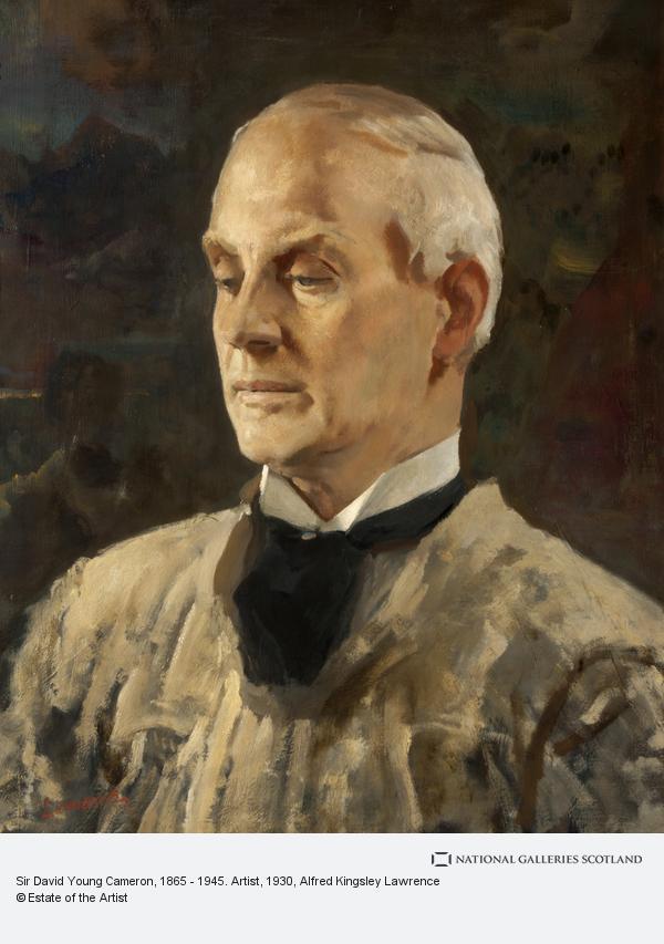 Alfred Kingsley Lawrence, Sir David Young Cameron, 1865 - 1945. Artist