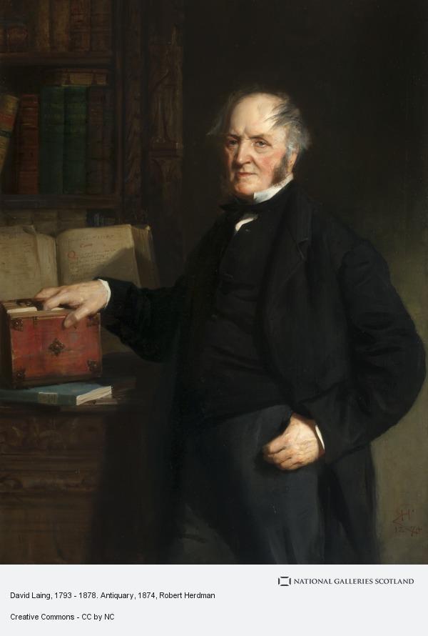 Robert Herdman, David Laing, 1793 - 1878. Antiquary