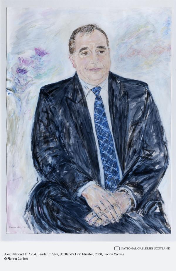Fionna Carlisle, Alex Salmond, b. 1954. Leader of SNP, Scotland's First Minister