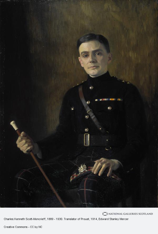 Edward Stanley Mercer, Charles Kenneth Scott-Moncrieff, 1889 - 1930. Translator of Proust (about 1914)