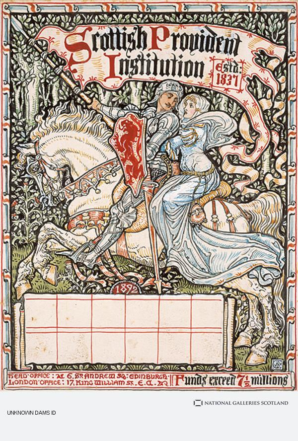 Walter Crane, Design for a Calendar for the Scottish Provident Institution