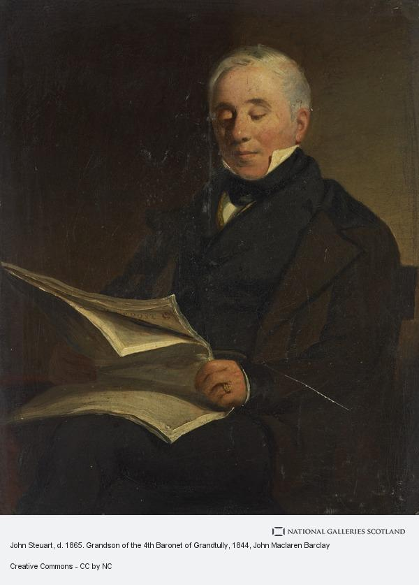 John Maclaren Barclay, John Steuart, d. 1865. Grandson of the 4th Baronet of Grandtully