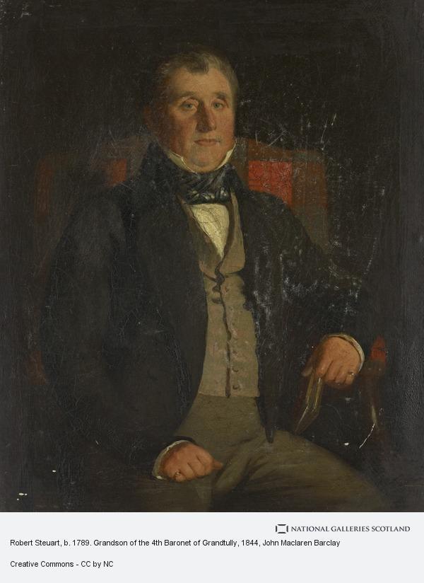 John Maclaren Barclay, Robert Steuart, b. 1789. Grandson of the 4th Baronet of Grandtully