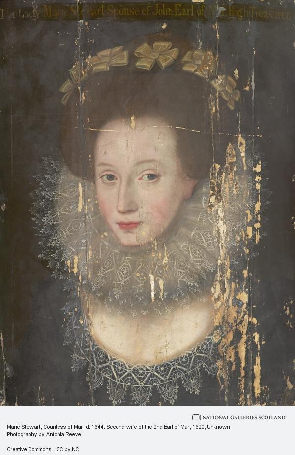Unknown, Marie Stewart, Countess of Mar, d. 1644. Second wife of the 2nd Earl of Mar