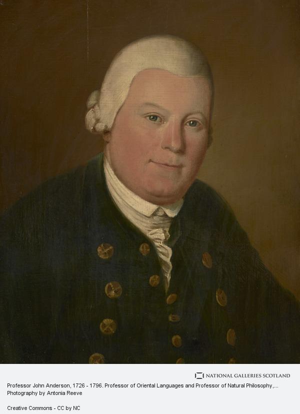 Unknown, Professor John Anderson, 1726 - 1796. Professor of Oriental Languages and Professor of Natural Philosophy, Glasgow University