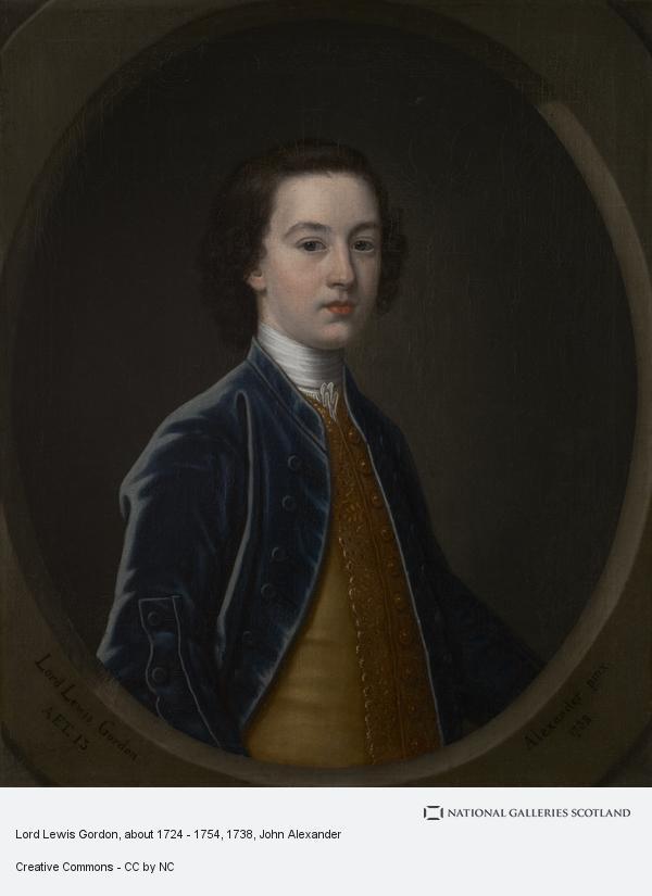 John Alexander, Lord Lewis Gordon, about 1724 - 1754