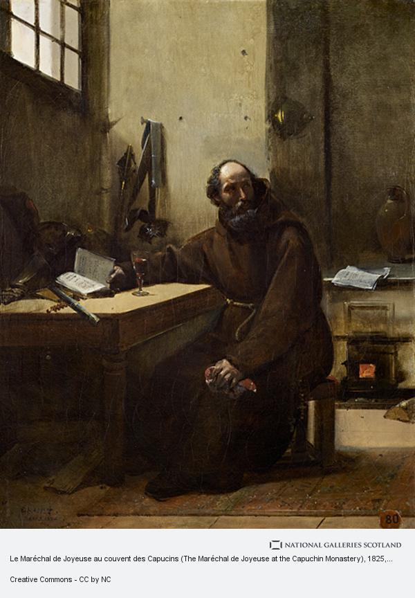 Francois Marious Granet, Le Maréchal de Joyeuse au couvent des Capucins (The Maréchal de Joyeuse at the Capuchin Monastery)