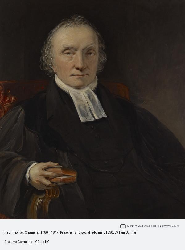 William Bonnar, Rev. Thomas Chalmers, 1780 - 1847. Preacher and social reformer