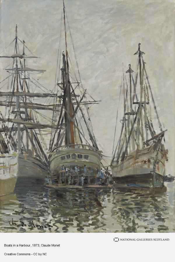 Claude Monet, Boats in a Harbour (About 1873)