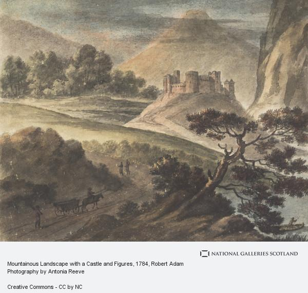 Robert Adam, Mountainous Landscape with a Castle and Figures