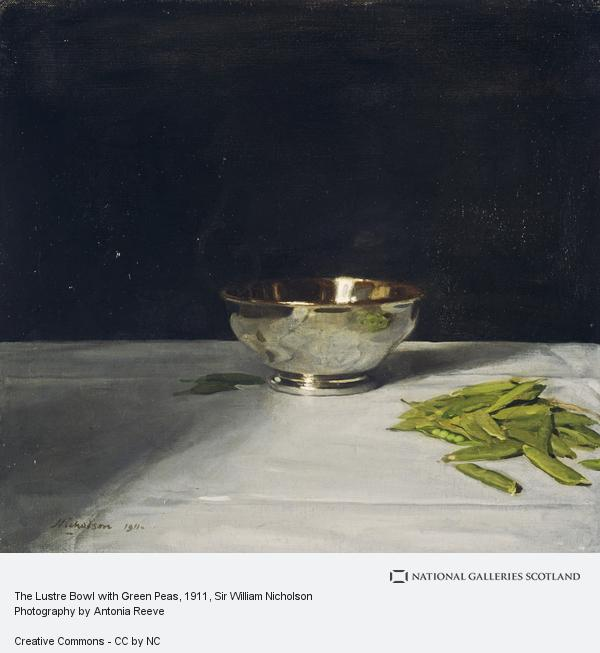 Sir William Nicholson, The Lustre Bowl with Green Peas