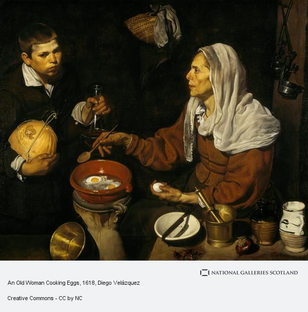 Diego Velazquez, An Old Woman Cooking Eggs (1618)