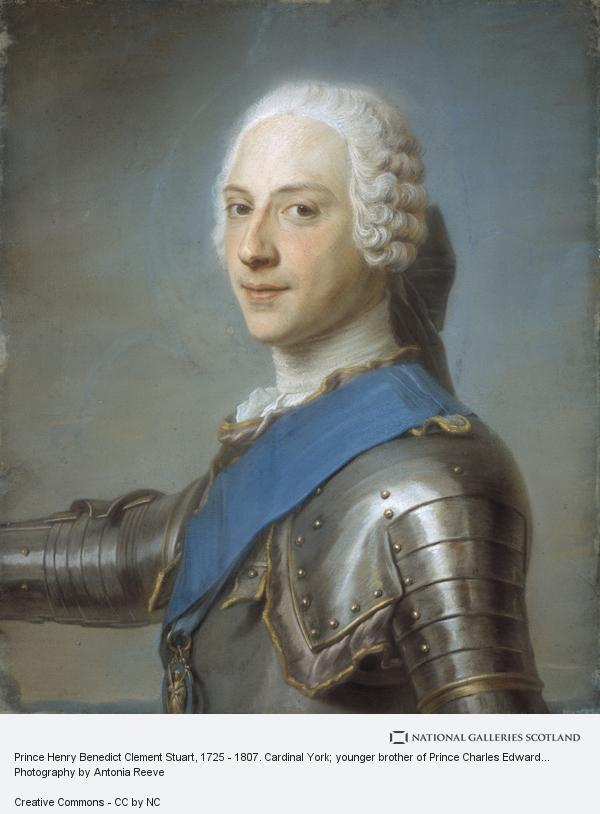 Maurice Quentin de La Tour, Prince Henry Benedict Clement Stuart, 1725 - 1807. Cardinal York; younger brother of Prince Charles Edward Stuart