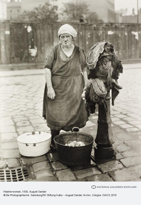 August Sander, Washerwoman, c.1930 (about 1930)