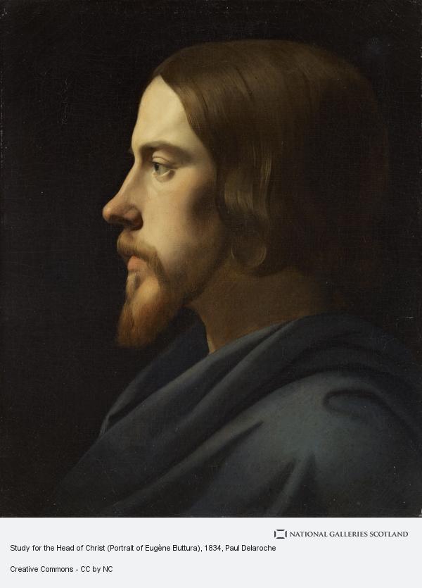 Paul Delaroche, Study for the Head of Christ for La Madeleine, Paris (Portrait of Eugène Buttura)