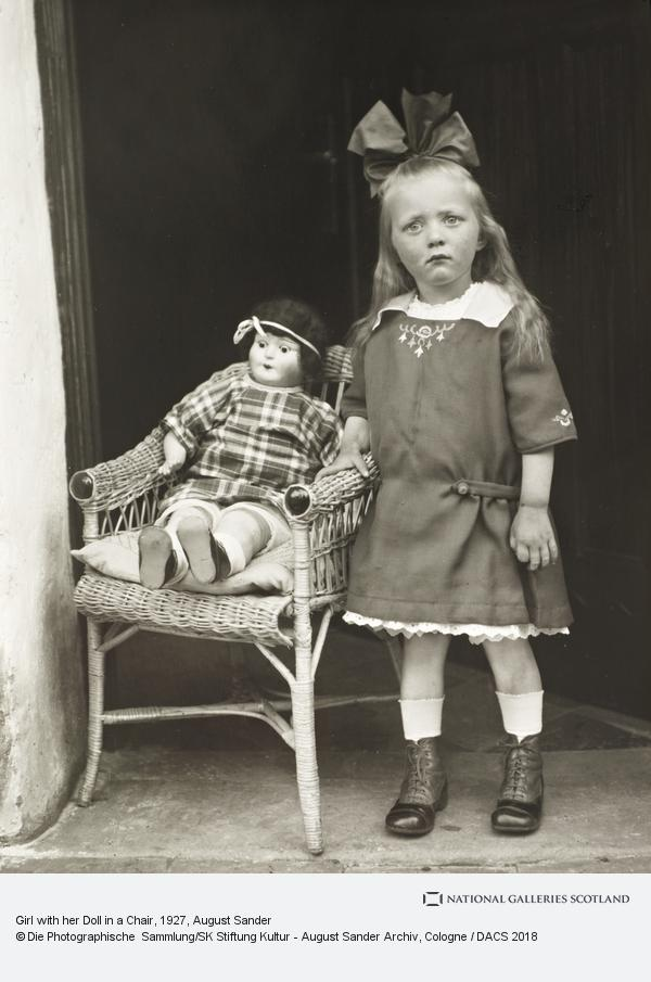 August Sander, Girl with her Doll in a Chair, c. 1927-30 (1927 - 1930)