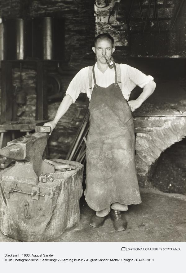 August Sander, Blacksmith, about 1930 (about 1930)