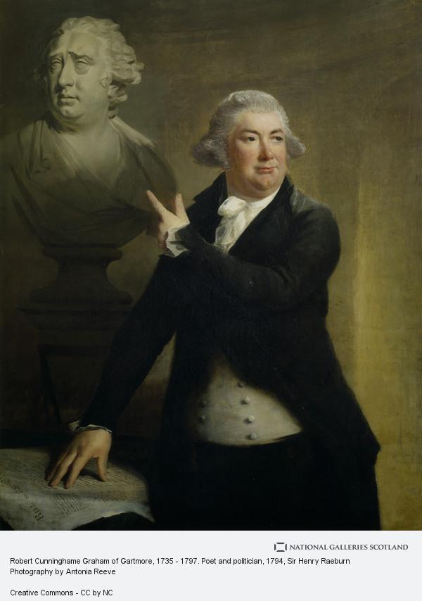 Sir Henry Raeburn, Robert Cunninghame Graham of Gartmore, d. 1797. Poet and politician