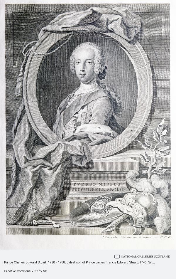 Sir Robert Strange, Prince Charles Edward Stuart, 1720 - 1788. Eldest son of Prince James Francis Edward Stuart