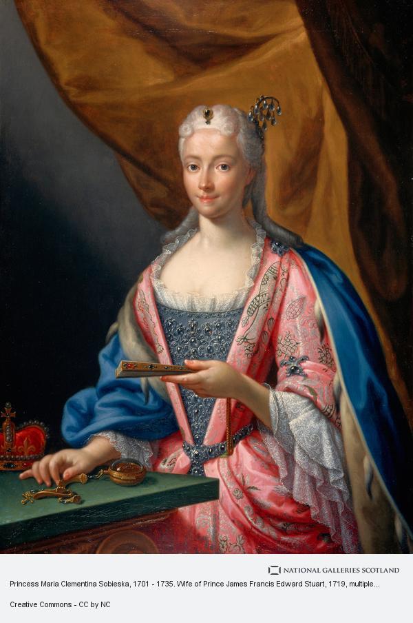 Francesco Trevisani, Princess Maria Clementina Sobieska, 1702 - 1735. Wife of Prince James Francis Edward Stuart (1719)