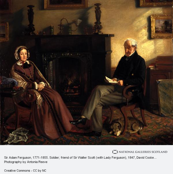 David Cooke Gibson, Sir Adam Ferguson, 1771-1855. Soldier; friend of Sir Walter Scott (with Lady Ferguson)