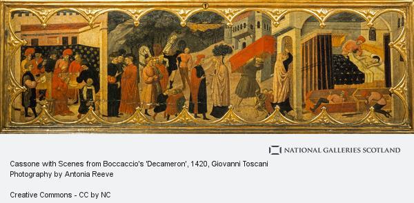 Giovanni Toscani, Cassone with Scenes from Boccaccio's 'Decameron' (About 1420 - 1425)