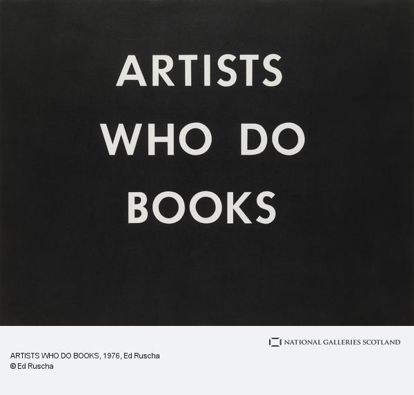 Ed Ruscha, ARTISTS WHO DO BOOKS (1976)