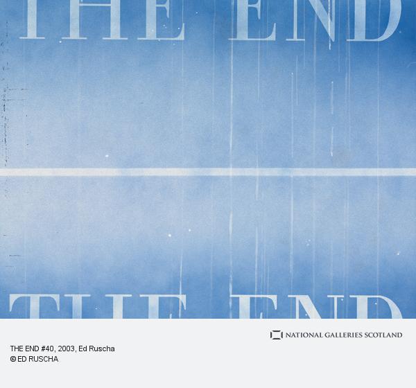 Ed Ruscha, THE END #40 (2003)