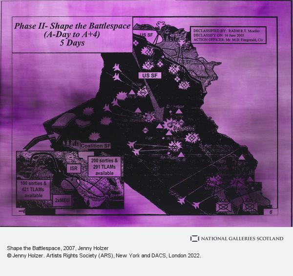 Jenny Holzer, Shape the Battlespace (2007)