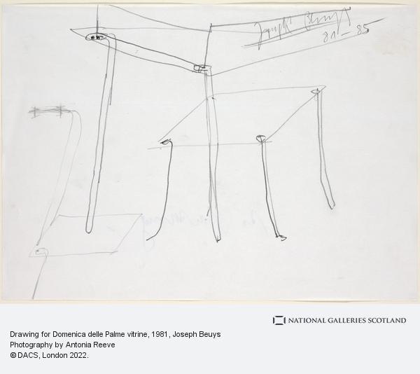 Joseph Beuys, Drawing for Domenica delle Palme vitrine (1981-1985)